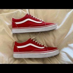 Red Original Vans !! ❤️